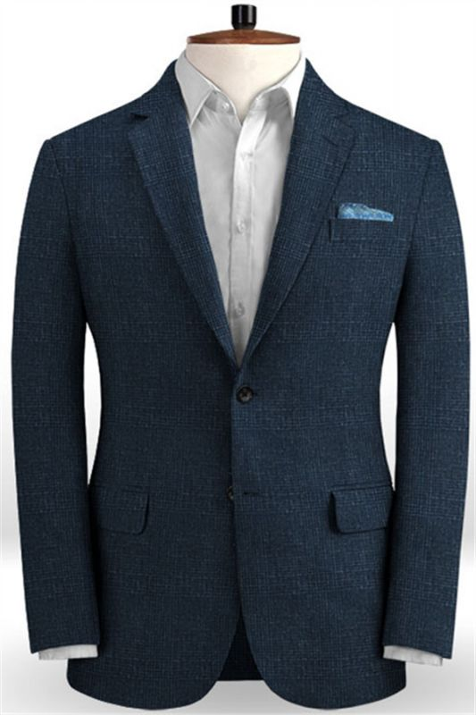 Dark Blue Customized Prom Outfits Suits | Wedding Groomsmen Tuxedo Online