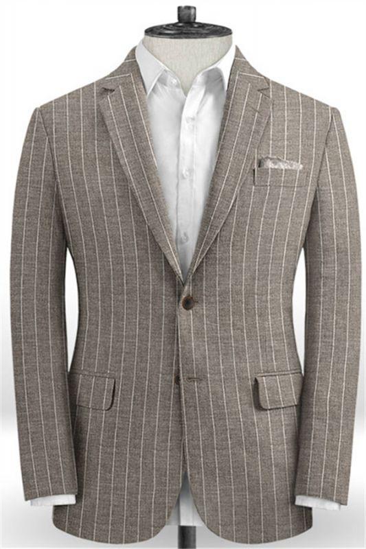 Fashion Striped Slim Fit Men Suits Online   Newest Two Piece Business Tuxedo