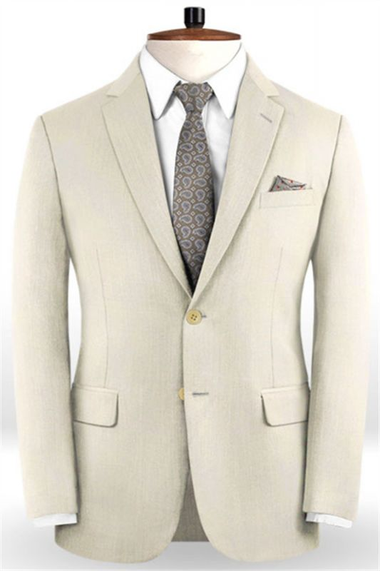 Off White Business Men Suits | Bespoke Classic Wedding Suits For Men