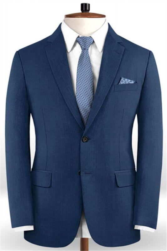 Gentleman Dark Navy New Stlyle Suits Tuxedo   Skinny Blazers Business Casual Prom Tuxedo