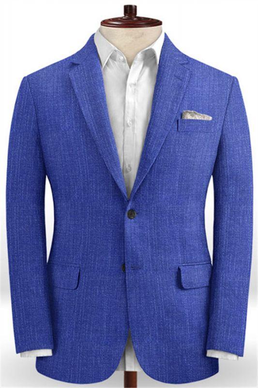 Royal Blue Notched Lapel Men Tuxedo | Prom Outfits Suits