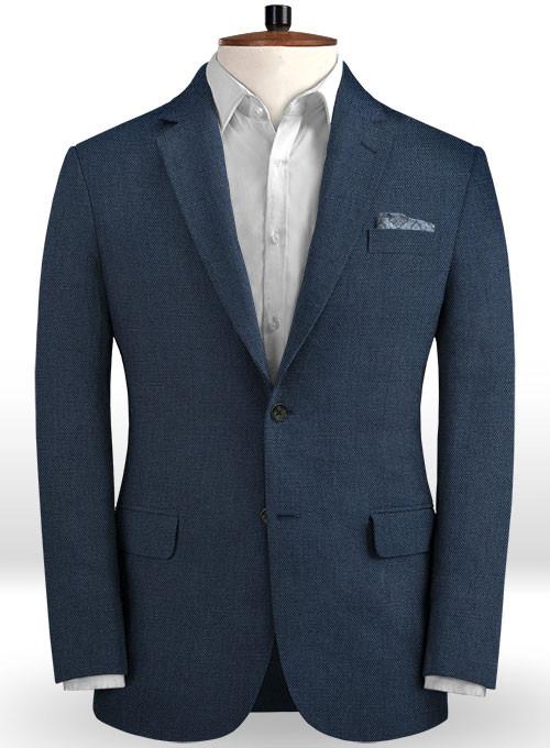 Dark Blue Linen Beach Wedding Tuxedos | Men Suits for Wedding Man Outfit 2 Piece