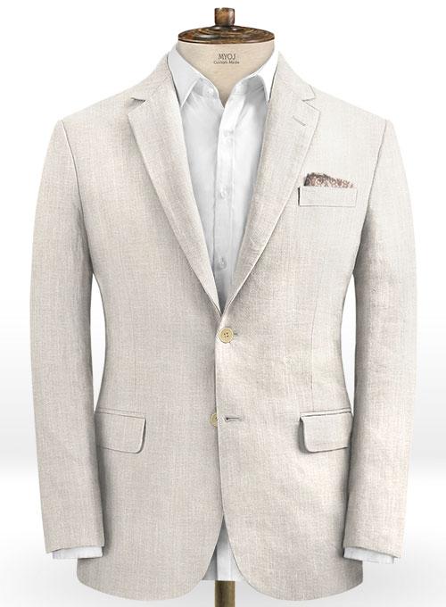 Hot Men Slim Fit Linen Groom Suits   Business Suits Solid Color Slim Tuxedo