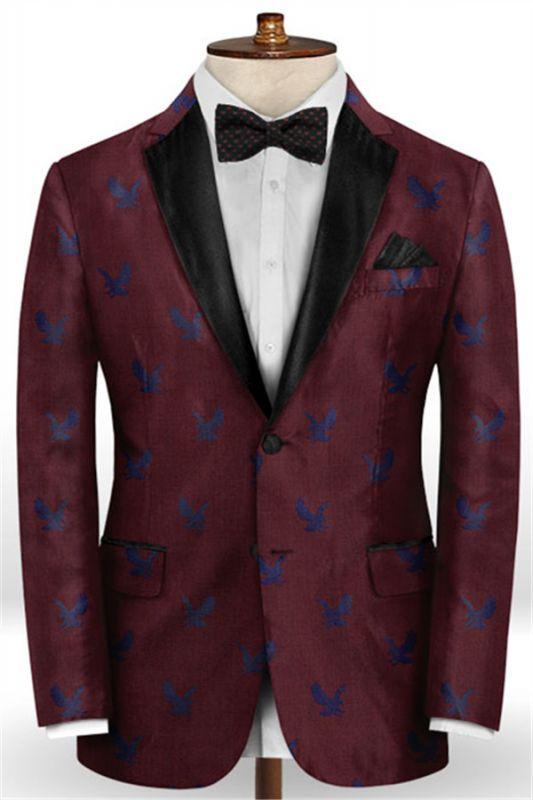 Burgundy Prom Tuxedo for Men | Young Men Suits Online