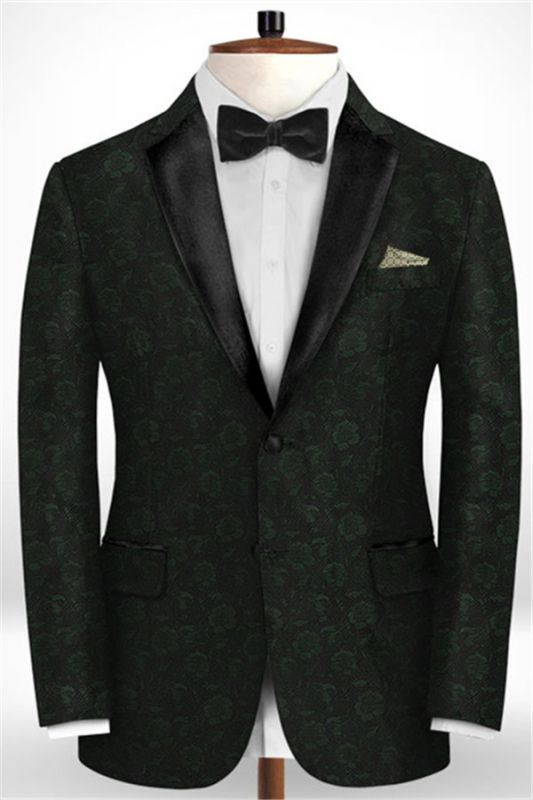 Latest Black Suits for Wedding Tuxedos | Groom Wear Notch Lapel Groomsmen Outfit Man Blazers