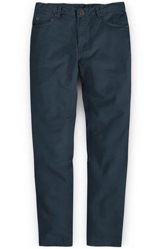Latest Design Dark Blue Zipper Fly Casual Pants Mens Designer Trousers