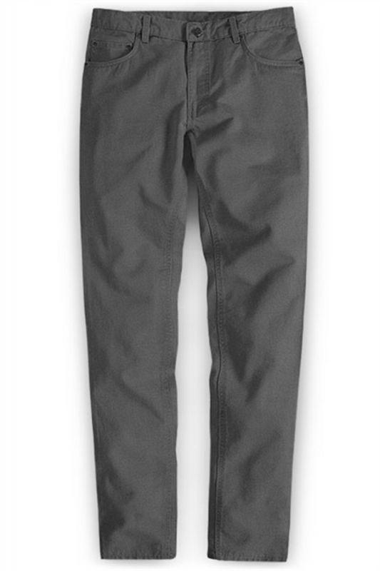 Braydon Grey Zipper Fly Stylish Business Dress Pants