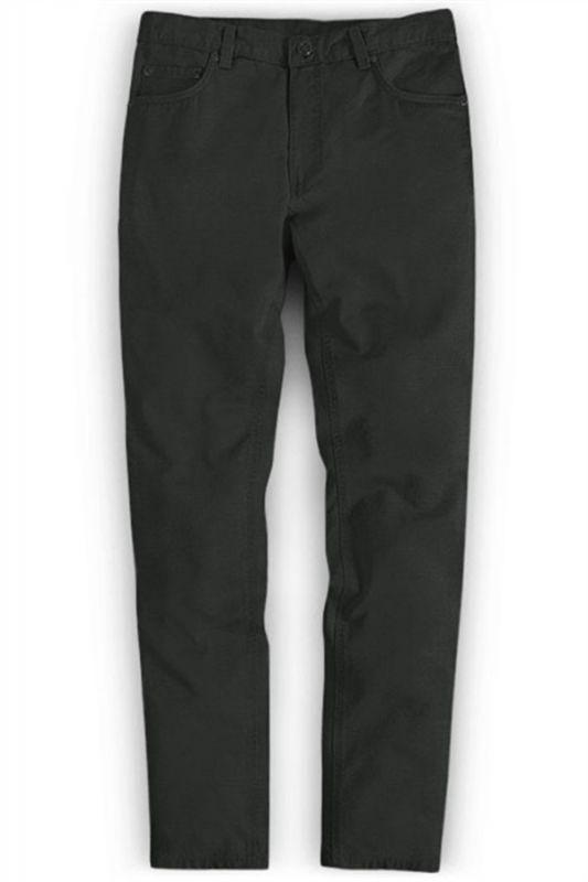 Dark Gray Slim Fit Casual Solid Business Work Mens Pants
