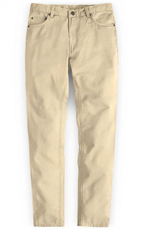 High Quality Fashion Slim Fit Clothes Men Solid Color Pants