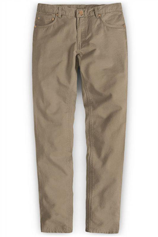 New Mens Slim Fashion Solid Color Business Casual Suit Pants