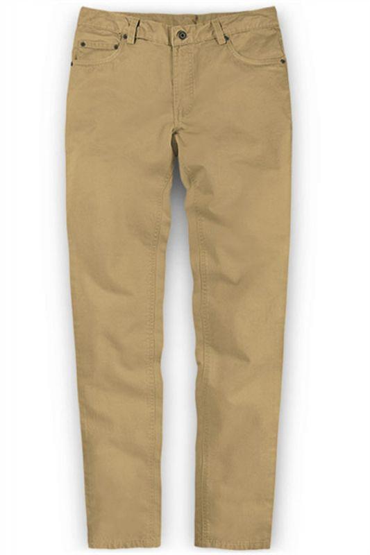 Solid Color Fashion Men Pants Casual Cotton Long Pants
