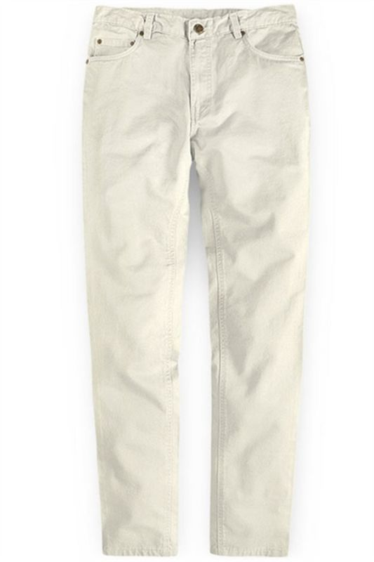 Offwhite Casual Pants Thin High Waist Stretch Mens Slacks