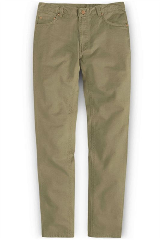 Slim Fit Jeans Cotton Custom Made Pants with Zipper Fly