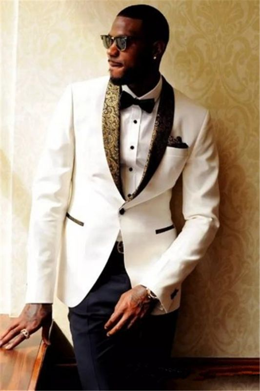Tailored Wedding Suits Bridegroom Mens Suits | 2020 Formal Jacquard Best Men Tuxedos