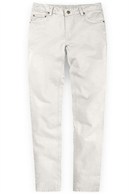 White New Arrival Casual Men Mid Waist Straight Formal Pants
