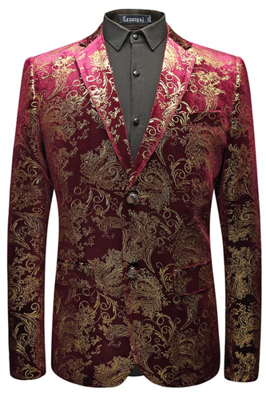 Mason Fuchsia Jacquard Notched Lapel Best Fitted Mens Blazer In Stock