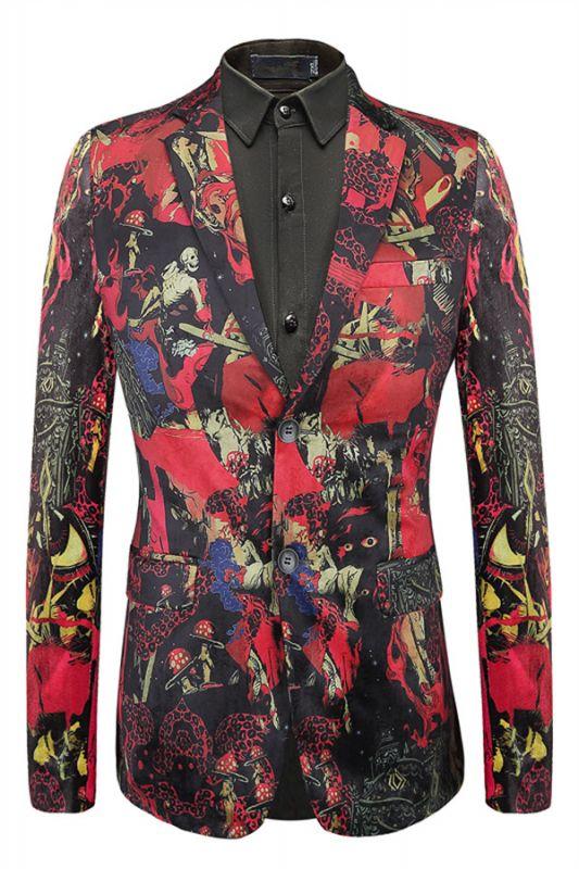 Landon Red Fashion Custom Made Patterned Blazer for Men
