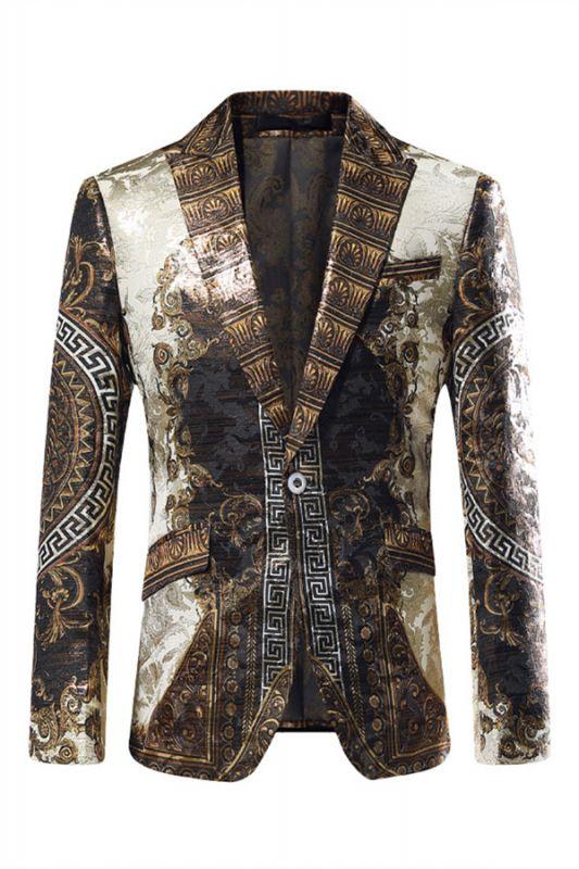 Malik Stylish Jacquard One Button Blazer for Boy
