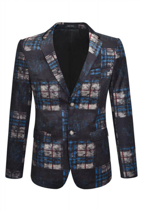 Chase black plaid Velvet Best Fitted Mens Blazer Jacket