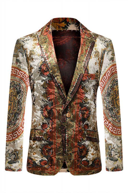 Colorful Fashion Peaked Lapel Slim Fit Mens Blazer