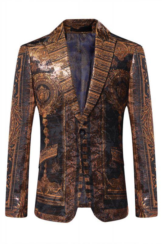Bespoke Cute One Button Patterned Blazer Jacket Online