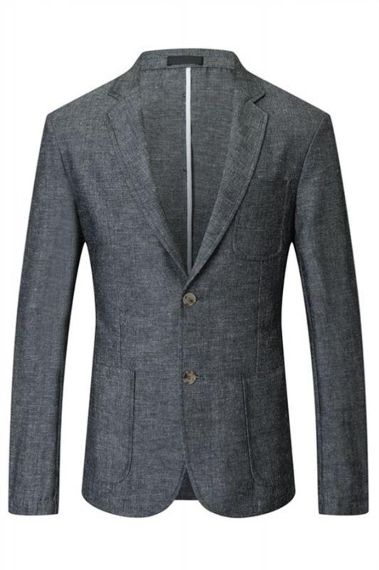 Henry Dark Gray Summer Linen Fashion Men Suits