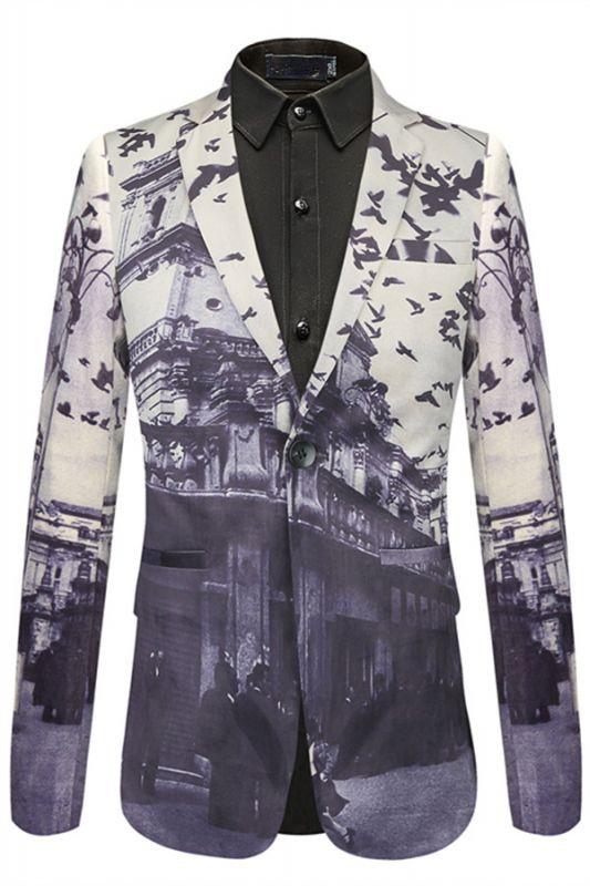 Casual Pleuche Best Fitted Pattern Fashion Blazer Jacket In Stock