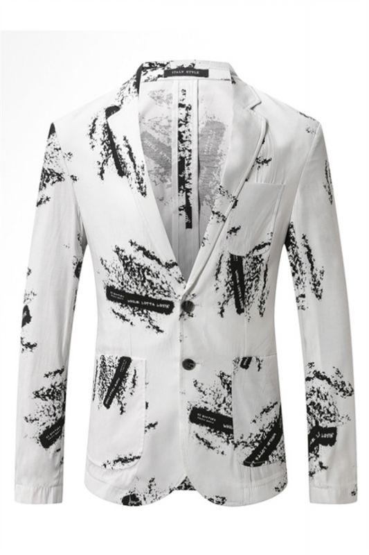 Charles Summer Linen Printed Fashion Fitted Boy Blazers