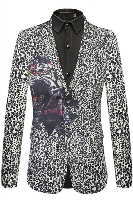 Cute Leopard Print Slim Fit Stylish Patterned Blazer Jacket