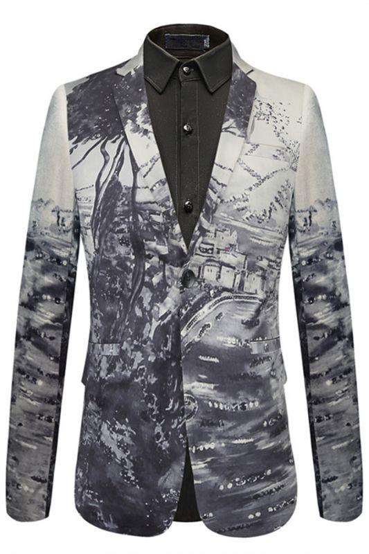 Stylish Tree Printed Slim Fit Blazer Jacket
