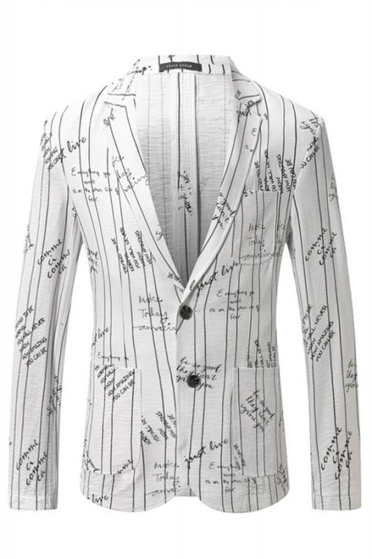 Lorenzo Stylish Summer Linen Striped Blazer Jacket