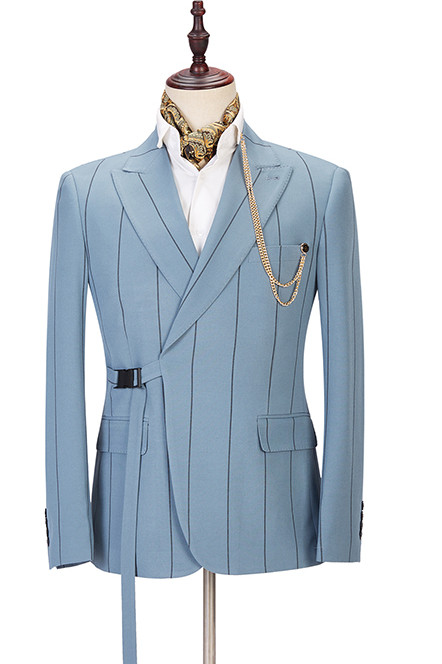 Micah New Arrival Striped Peaked Lapel Stylish Men Suits Online