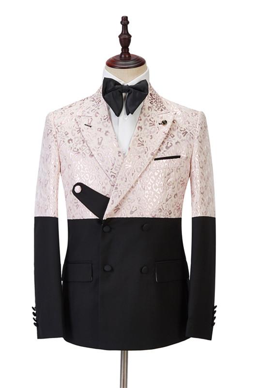 Eduardo Stylish Peaked Lapel Slim Fit Bespoke Prom Men Suits Online