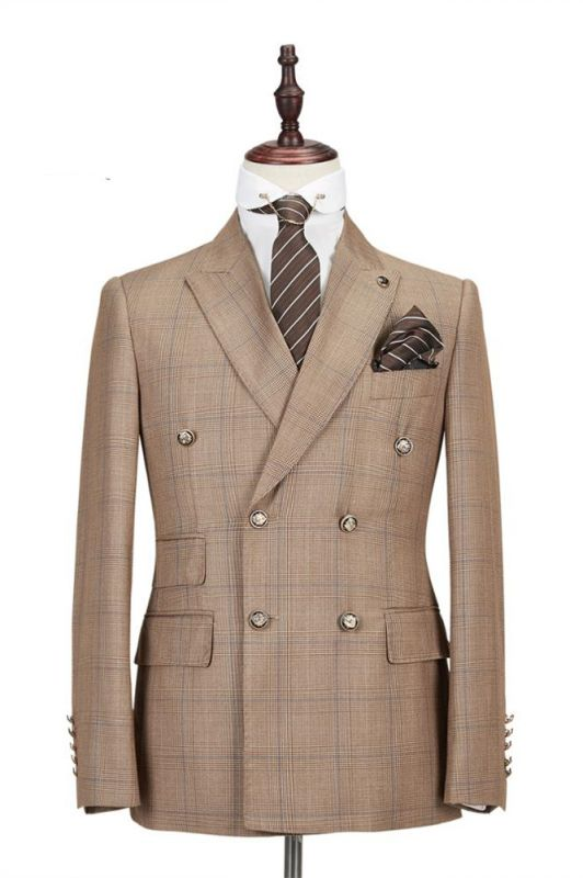 Rylan Double Breasted Peaked Lapel Fashion Men Suits for Business