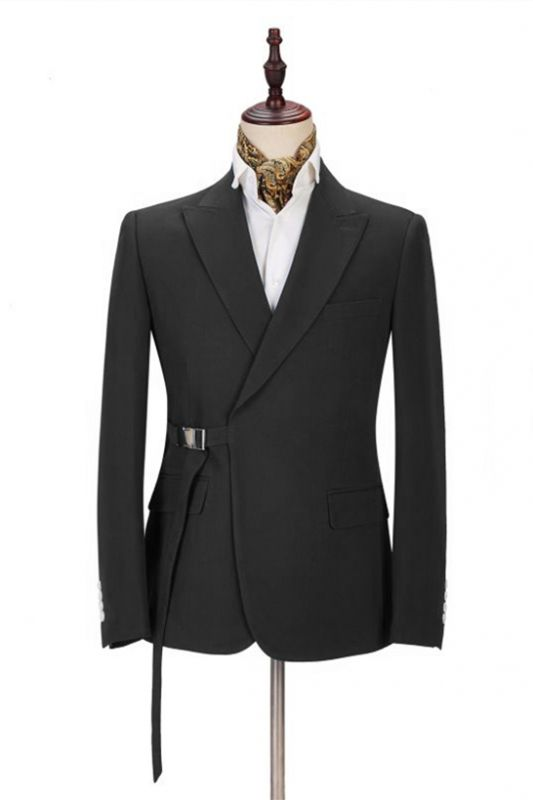 Classic Men's Formal Suit Online | Peak Lapel Buckle Button Suit for Men