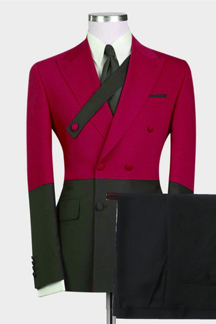 Rafael Fashion Red Bespoke Slim Fit Men Suits for Prom