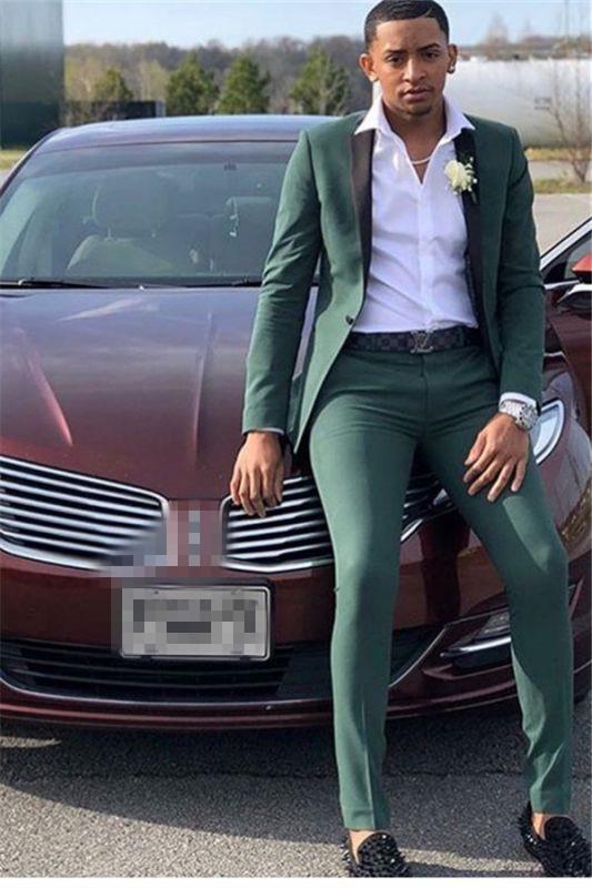 Dark Green Prom Suit | Slim Fit Men Suit