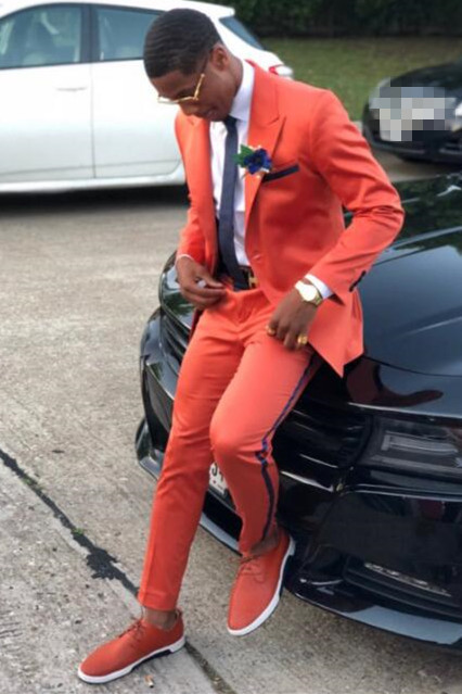 Francisco Two Pieces Peaked Lapel Prom Men Suits