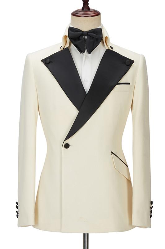 Alvin Off White Slim Fit One Button Stylish Men Suit
