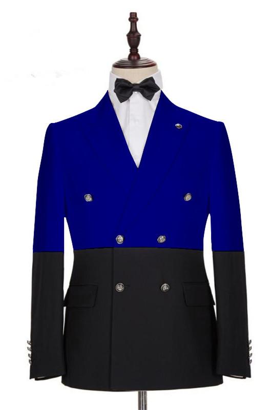 Rocco Bespoke Royal Blue Peaked Lapel Slim Fit Men's Blazer
