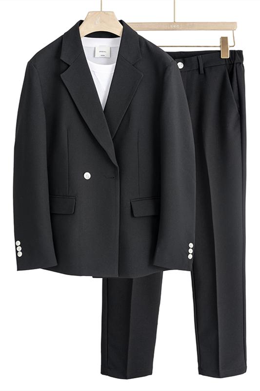Jamari New Arrival Loose Fashion Black Notched Lapel Men Suits