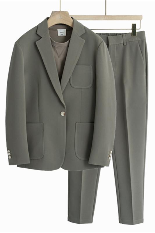 Judah One Button Notched Lapel Loose Men Suits