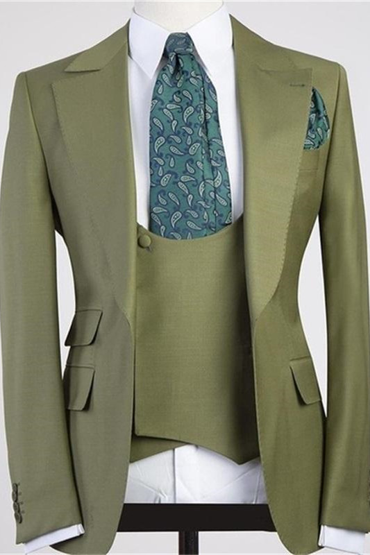 Camron Three Pieces Peaked Lapel Bespoke Men Suit for Prom