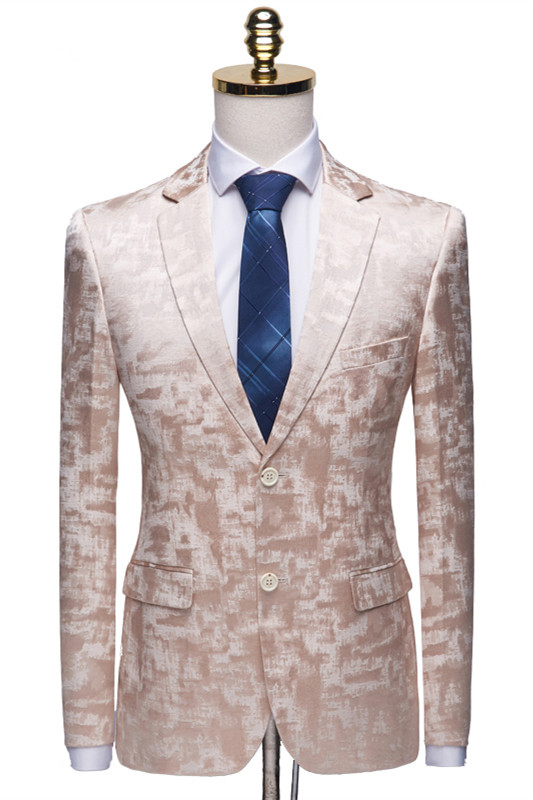 Casual Pink Tuxedo Jacket | Classic Prom Suits for Men