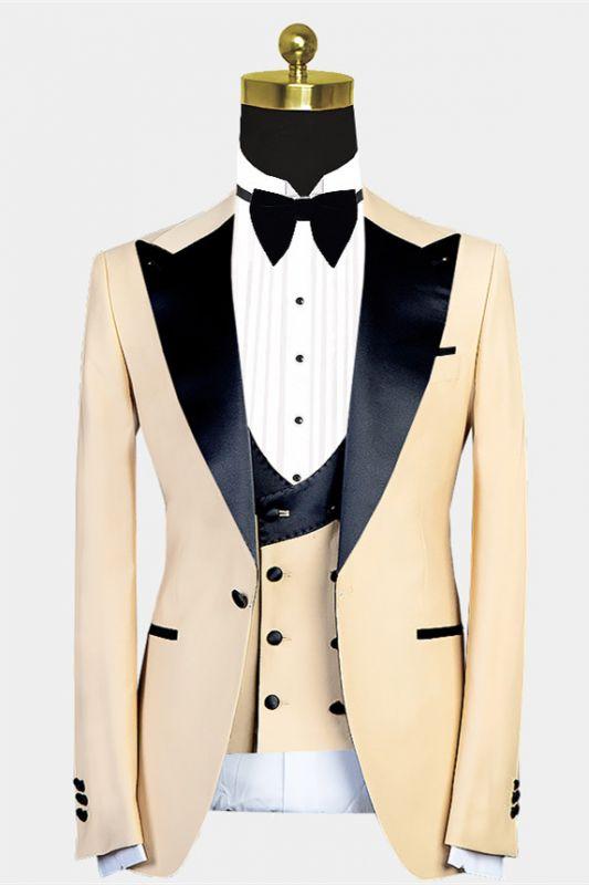 Kobe Handsome Peaked Lapel Slim Fit Men Suit for Prom