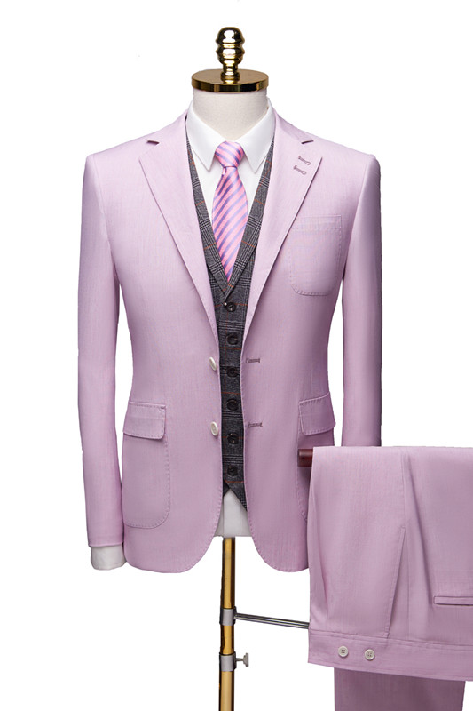 Purple Notched Collar Suit for Prom | Classic Three Pieces Tuxedo