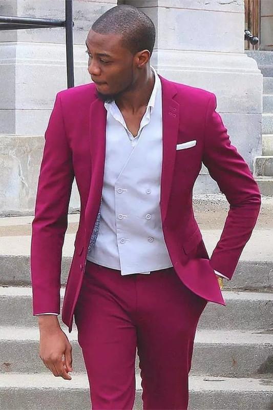 Titus Bespoke Notched Lapel Slim Fit Prom Men Suit for Boys