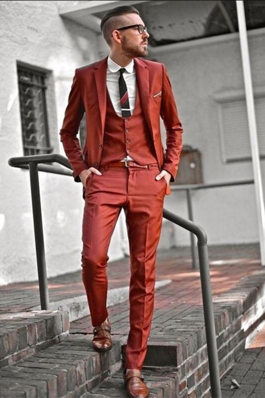 Jaylin Handsome Slim Fit Three Pieces Notched Lapel Men Suits for Prom