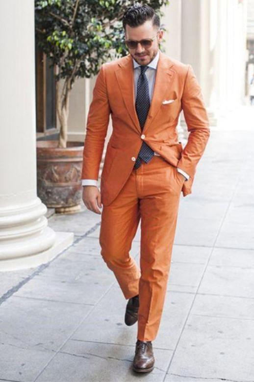 Melvin Summer Linen Notched Lapel Fashion Men Suits