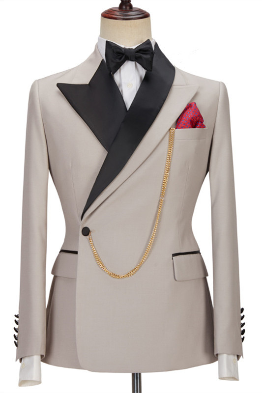 Emerson Stylish Peaked Lapel Slim Fit Men Suits for Prom